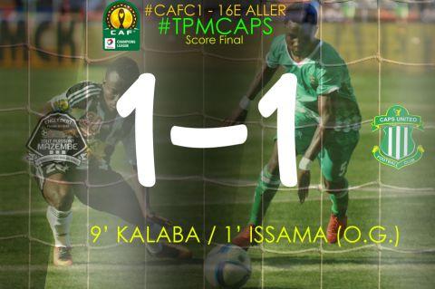 Score final TP Mazembe - Caps United FC