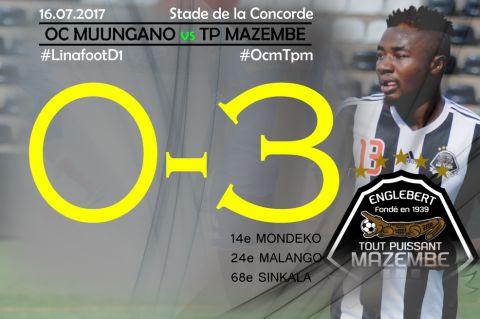 Score final OC Muungano-TP Mazembe