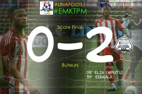 Score final Ecofoot Moïse Katumbi-Tout Puissant Mazembe