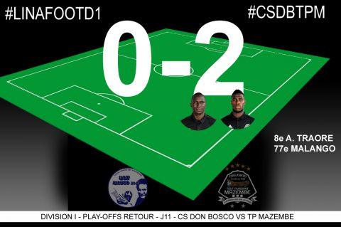 Score final CS Don Bosco-TP Mazembe