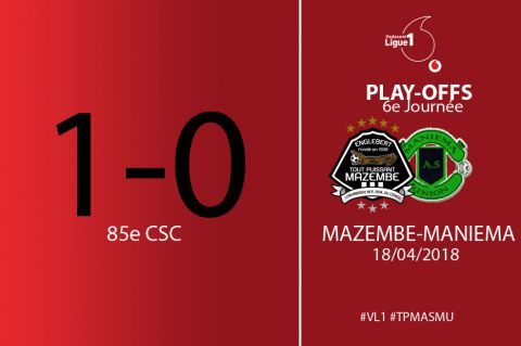 Score final TP Mazembe - AS Maniema Union