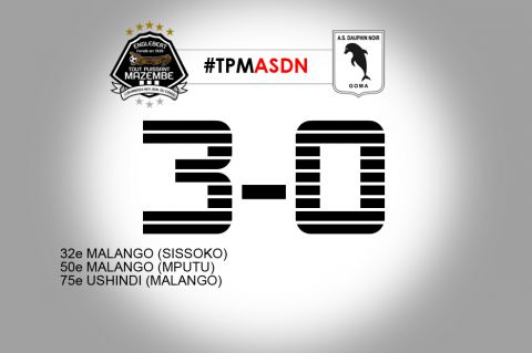 Score final TP Mazembe-AS Dauphin Noir