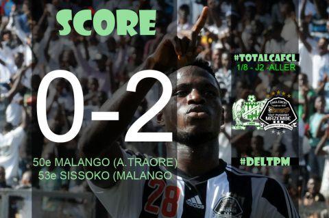 Score final Difaâ El Jadida-TP Mazembe