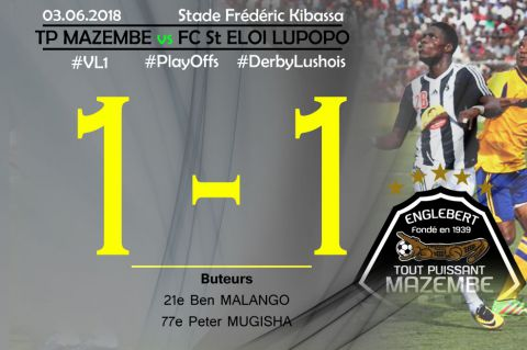 Score final TP Mazembe-FC St Eloi Lupopo