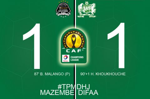 Score final TP Mazembe - Difaâ EJ