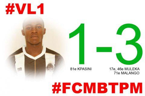 Score final FC Mont Bleu-TP Mazembe