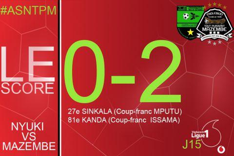 Score final AS Nyuki-TP Mazembe