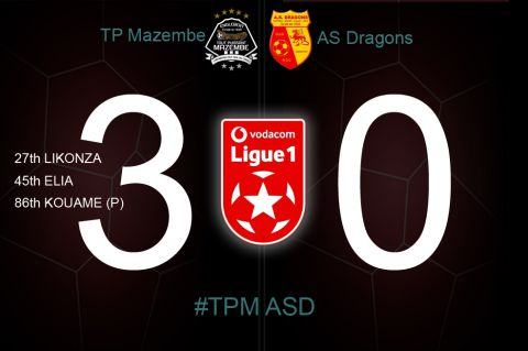 Final Score TP Mazembe - AS Dragons