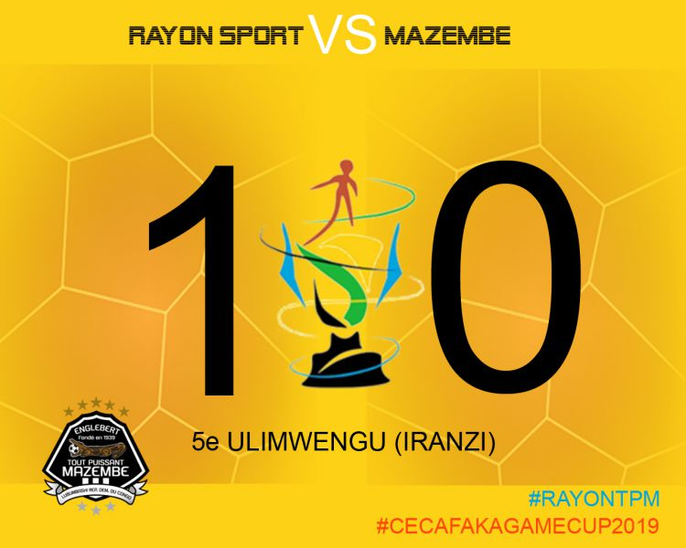 Score final Rayon Sports FC-TP Mazembe