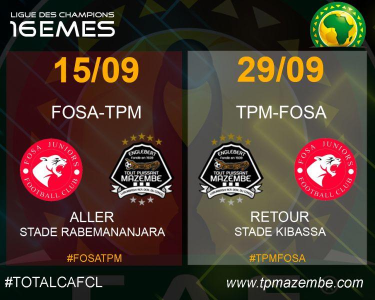 Fosa Juniors-TPM : les dates et les stades connus