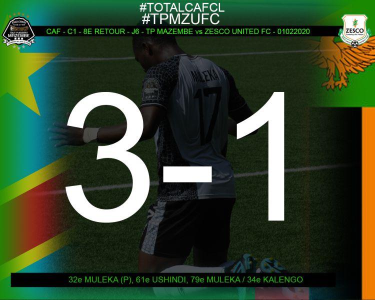 Score final TP Mazembe-Zesco United FC