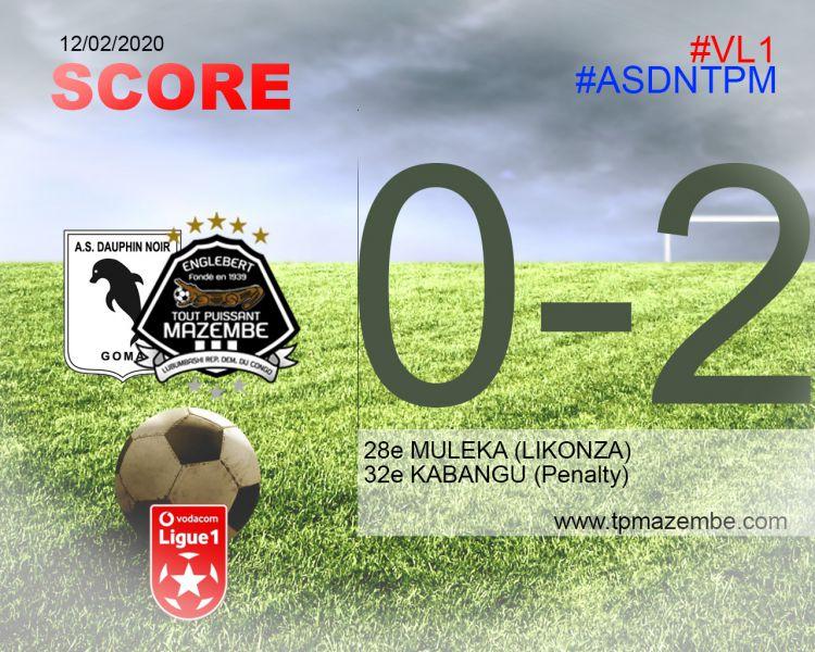 Score final AS Dauphin Noir-TP Mazembe