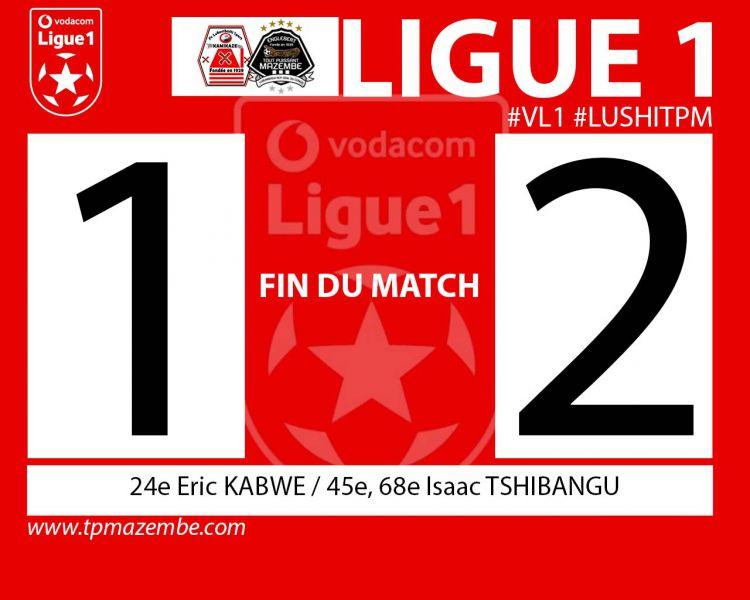 Score final FC Lubumbashi Sport-TP Mazembe