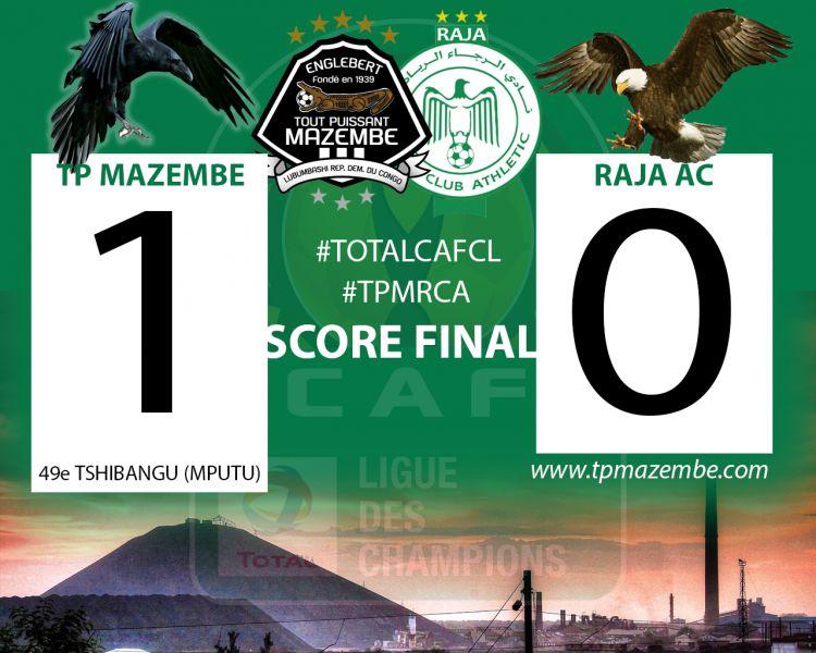 Score final TP Mazembe-Raja AC
