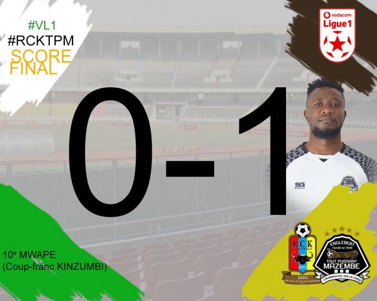 Score final RC Kinshasa-TP Mazembe