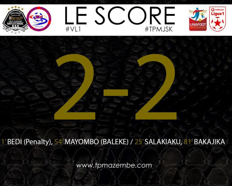 Score final TP Mazembe-JS Kinshasa