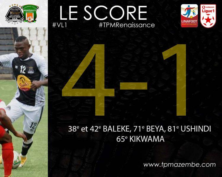 Score final TP Mazembe-FC Renaissance du Congo