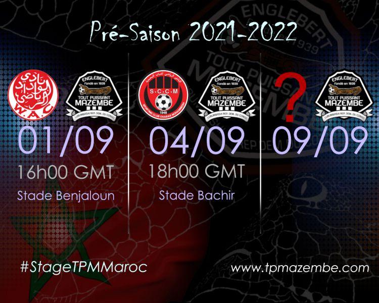 Le WAC, le SC Mohammedia et un 3ème adversaire au programme!