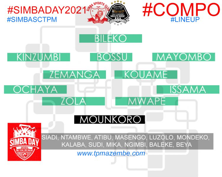 Composition Simba Sports Club - Tout Puissant Mazembe