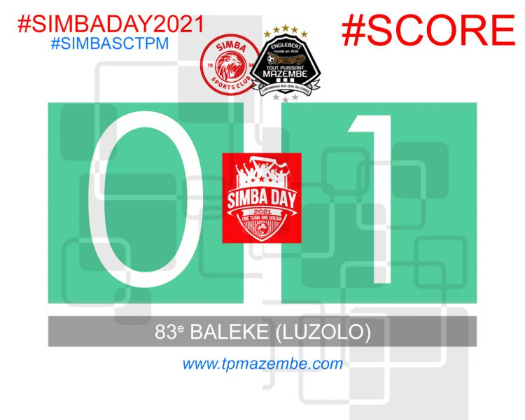 Score final Simba Sports Club - Tout Puissant Mazembe