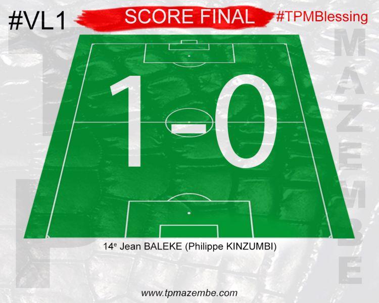 Score final TP Mazembe-Blessing FC